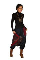 Sarouel femme Rouge avec imprimés tendances et poches Amine 301279