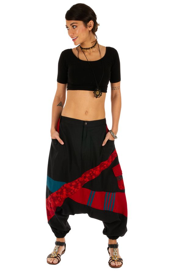 Sarouel femme sarouel homme noir original ethnique Fayoum 314074