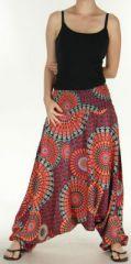 Sarouel Femme transformable 3en1 Ethnique et Coloré Joanny Orange 275440