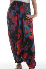Sarouel femme transformable Noir à Imprimés très colorés Pintana 297875