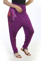 sarouel-fourche haute look decontracte avec imprimé floral Meryl 290842
