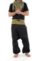 Sarouel homme noir grande taille du Népal Augustin 304692