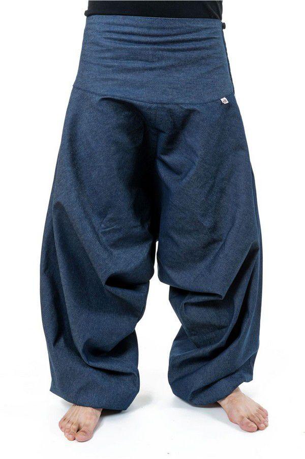 Sarouel homme original style baggy bleu jean Padoox 304120