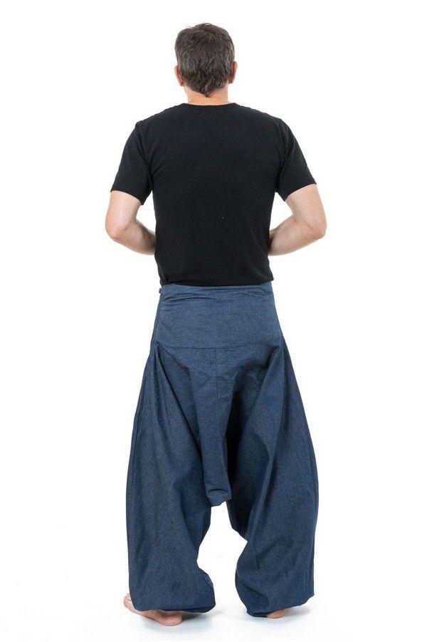 Sarouel homme original style baggy bleu jean Padoox 304122