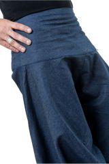 Sarouel homme original style baggy bleu jean Padoox 304123