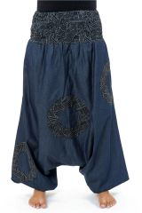Sarouel homme ou femme en jeans grande taille Mila 304641