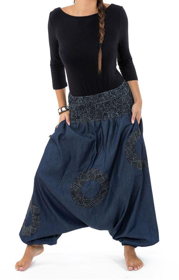 Sarouel homme ou femme en jeans grande taille Mila 304643