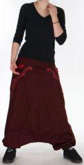 Sarouel Homme ou Femme Ethnique style Tribal Jayden Marron 275410