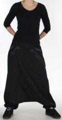 Sarouel Homme ou Femme Ethnique style Tribal Jayden Noir 275408