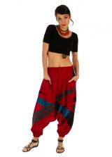 Sarouel homme ou sarouel femme à fourche basse rouge Fayoum 314077