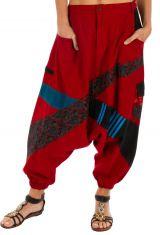 Sarouel homme ou sarouel femme à fourche basse rouge Fayoum 314079