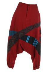 Sarouel homme ou sarouel femme à fourche basse rouge Fayoum 314808