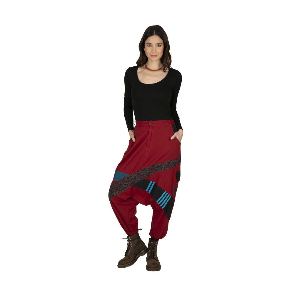 Sarouel homme ou sarouel femme à fourche basse rouge Fayoum 323296