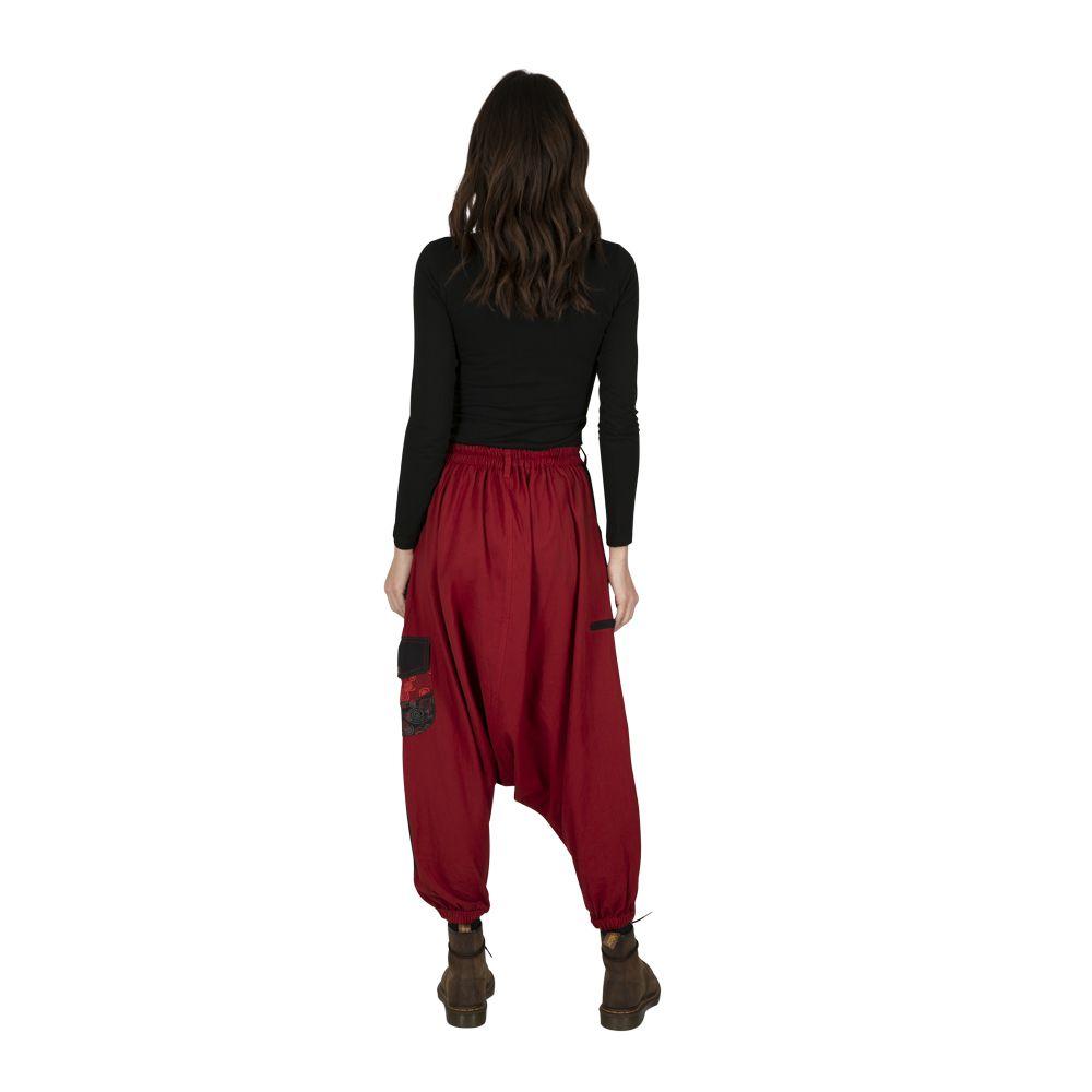 Sarouel homme ou sarouel femme à fourche basse rouge Fayoum 323297