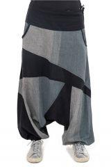 Sarouel jogging homme ou femme mixte noir et gris Pagata 305495
