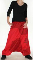 Sarouel large Mixte à fourche basse Ethnique et Original Jaeson Rouge 275351