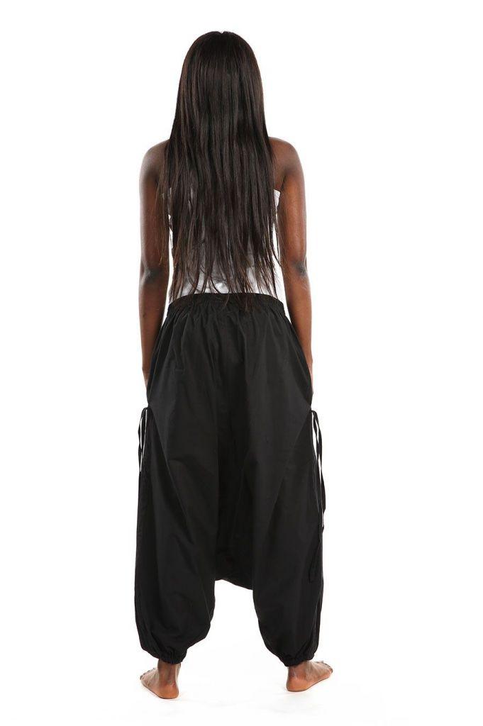 Sarouel large mixte de couleur noir en coton léger du Népal Likox 305514