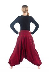 Sarouel large rouge avec une ceinture smokée pour le confort Amine 305461