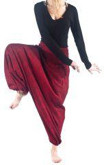Sarouel large rouge avec une ceinture smokée pour le confort Amine 305462