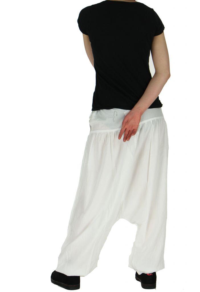Sarouel léger idéal pour l'été louka blanc 261165