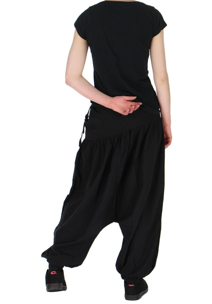 Sarouel léger idéal pour l'été louka noir 261171