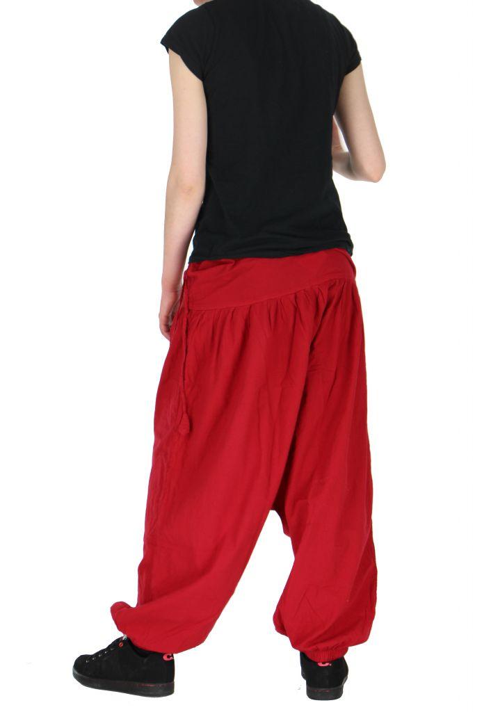 Sarouel léger idéal pour l'été louka rouge 261173