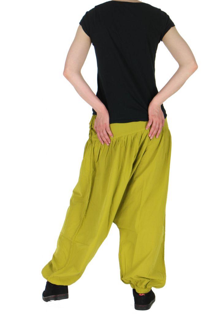 Sarouel léger idéal pour l'été louka vert anis 261169