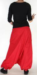 Sarouel Mixte à fourche basse Ethnique et Coloré Jasper Rouge 275385