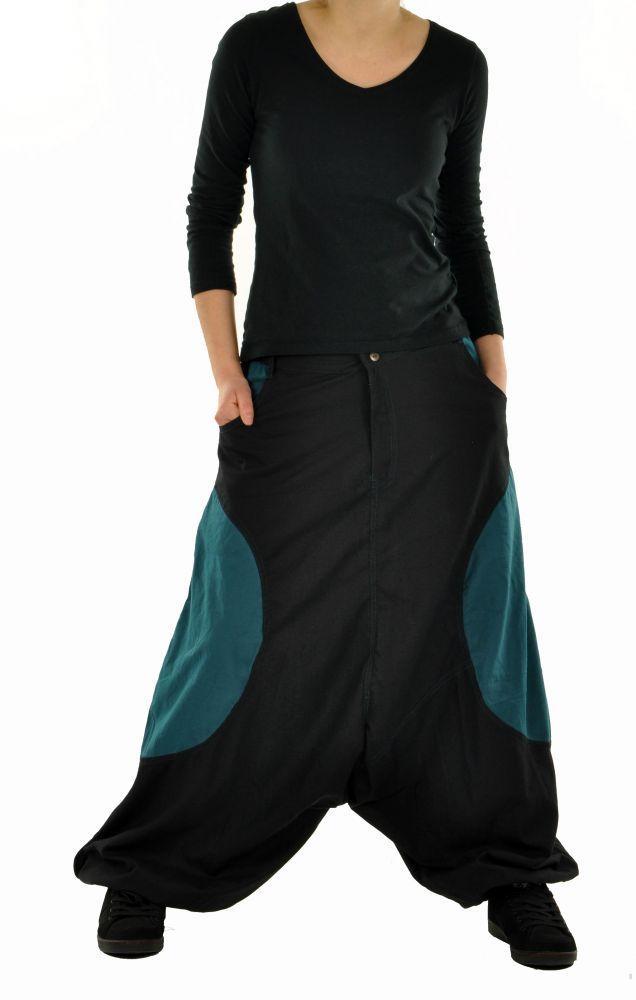Sarouel mixte baba mikoh noir et bleu 244983
