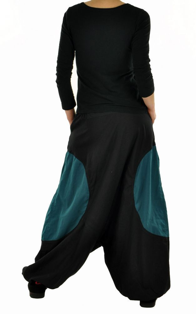 Sarouel mixte baba mikoh noir et bleu 255042