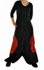 Sarouel mixte baba mikoh noir et rouge 244984