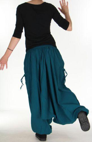 Sarouel Mixte d'hiver Ethnique et Baba cool Kalvin Bleu Pétrole 275518