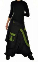 Sarouel mode ethnique halaoa noir et kaki 244949