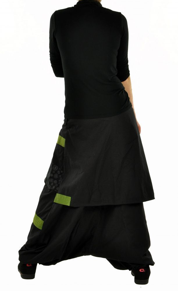 Sarouel mode ethnique halaoa noir et kaki 255008