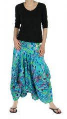 Sarouel mode ethnique imprimé vanuatu bleu 245788