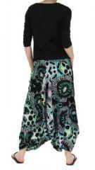 Sarouel mode ethnique imprimé vanuatu noir 255735
