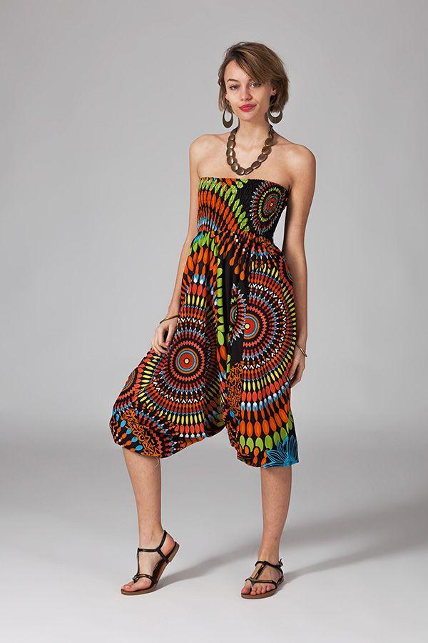 Sarouel multicolore vêtement multifonctions 3 en 1 Yasmina 289404
