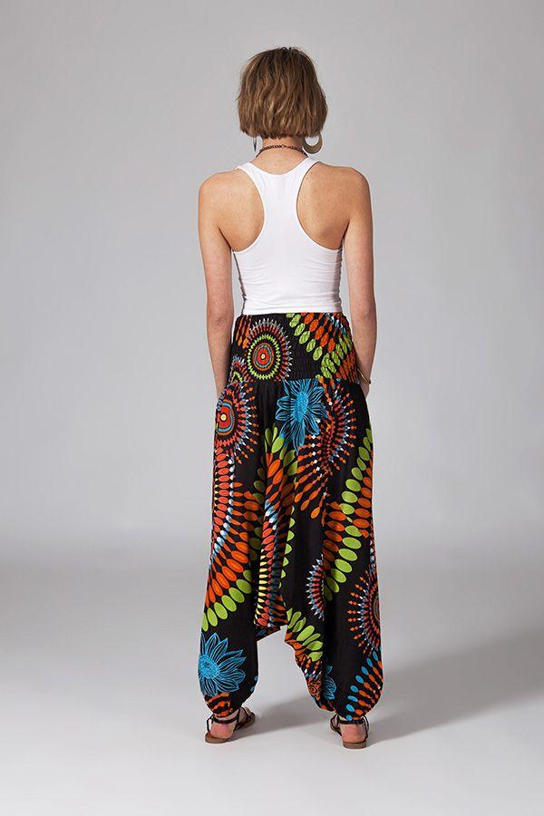 Sarouel multicolore vêtement multifonctions 3 en 1 Yasmina 289406