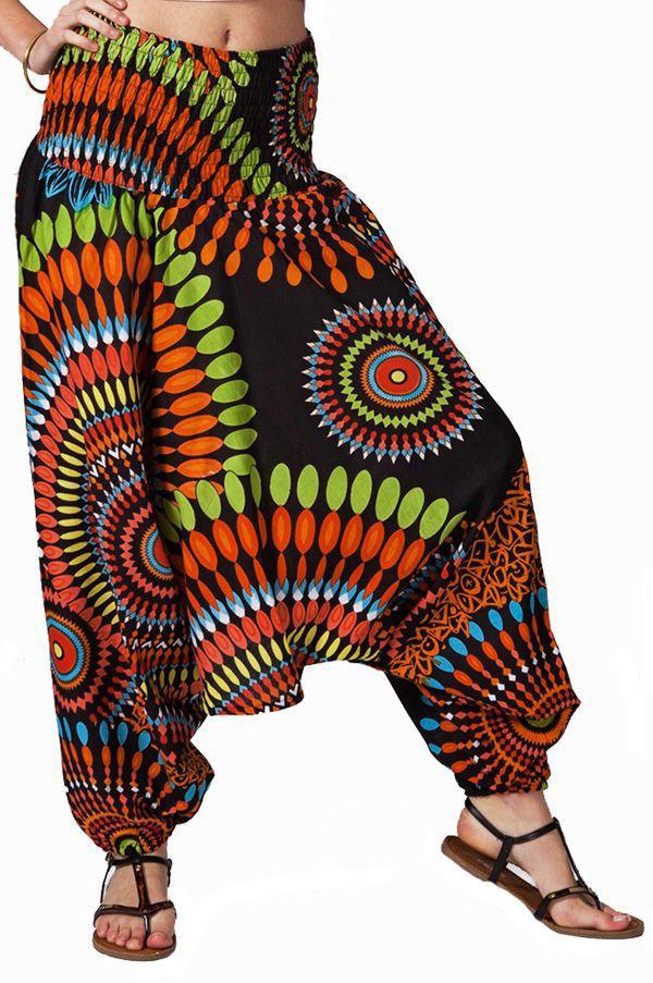 Sarouel multicolore vêtement multifonctions 3 en 1 Yasmina 320036