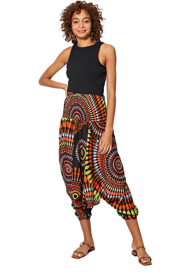 Sarouel multicolore vêtement multifonctions 3 en 1 Yasmina 325497