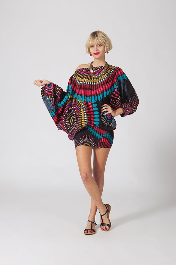 Sarouel multicolore vêtement multifonctions 3 en 1 Yasmini 320403
