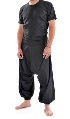 Sarouel noir à la mode pour homme large et confortable Jérémy 305445
