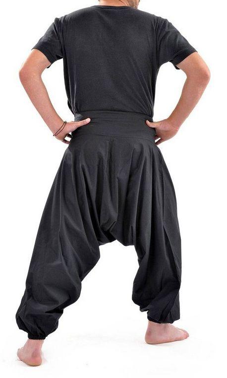 Sarouel noir à la mode pour homme large et confortable Jérémy 305446