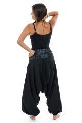 Sarouel noir du Népal à la ceinture originale femme Kandhi 313530