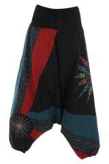 Sarouel noir ethnique original et coloré pas cher Mindelo 314852