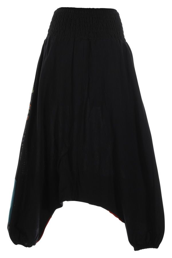 Sarouel noir ethnique original et coloré pas cher Mindelo 314853