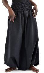 Sarouel noir femme grande taille ceinture large Tatou 304708