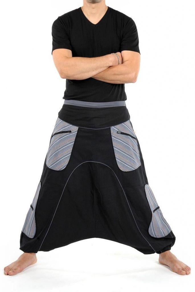 Sarouel noir large pour homme tendance pour un look urbain 305484