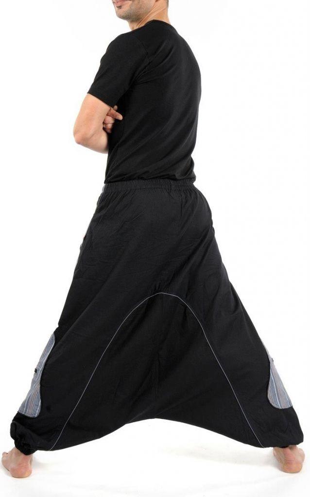 Sarouel noir large pour homme tendance pour un look urbain 305486