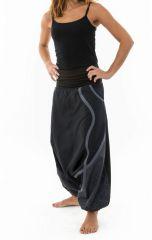 Sarouel noir mixte original en coton épais pour l'hiver Kinou 304659
